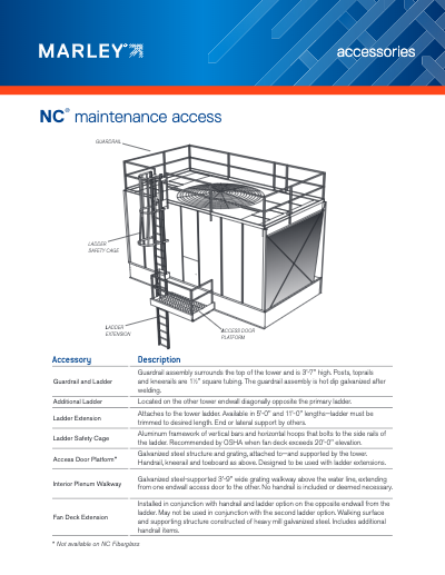 Marley NC Cooling Tower Maintenance Access