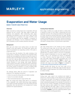 Evaporation and Water Usage