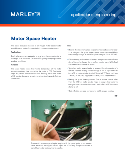 Motor Space Heater