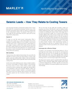 Seismic Loads – How They Relate to Cooling Towers