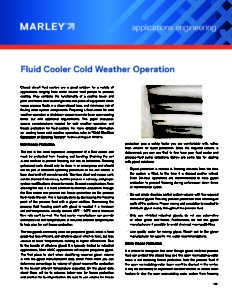 Fluid Cooler Cold Weather Operation