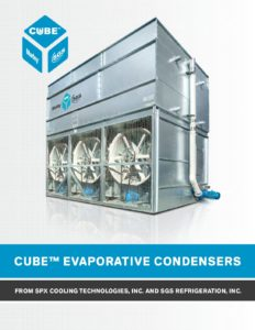 Cube Evaporative Condenser Brochure – Food, Beverage, Cold Storage Applications