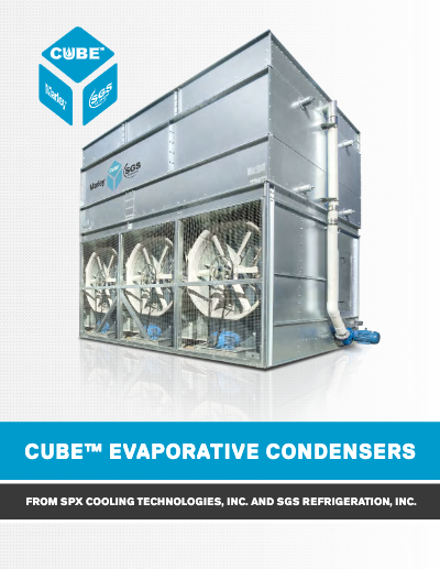 Cube Evaporative Condenser Brochure – Food, Beverage, Cold Storage Applications
