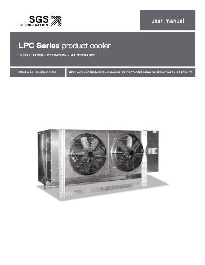 SGS LPC Product Cooler IOM User Manual