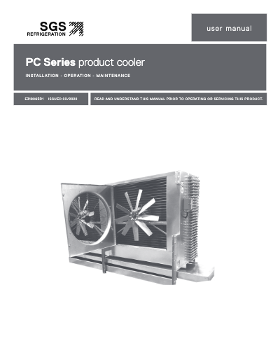 SGS PC Series Product Cooler IOM User Manual