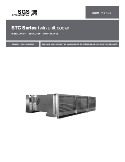 SGS STC Series Twin Unit Cooler IOM User Manual
