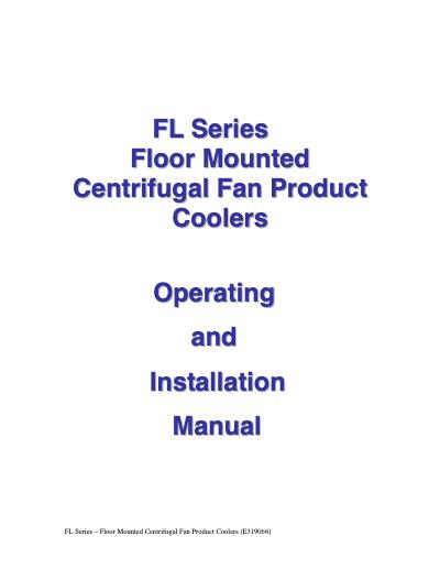 SGS FL Series IOM User Manual