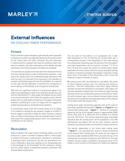 External Influences on Cooling Tower Performance