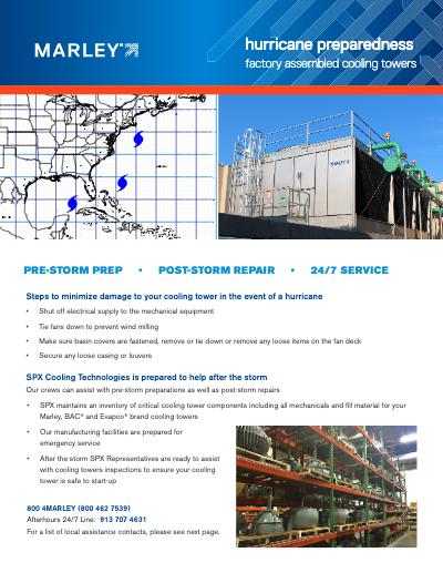 Cooling Tower Hurricane Preparedness - HVAC