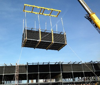 "Some modern cooling towers include modular, pre-assembled components that can be shipped ""just in time"" to the job site to reduce construction time and manpower requirements."