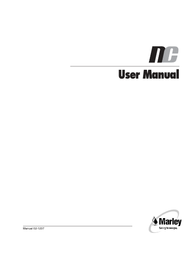 Marley NC User Manual – Non Current