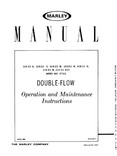 Marley HCT Wood and Steel Double-Flow User Manual – Non Current