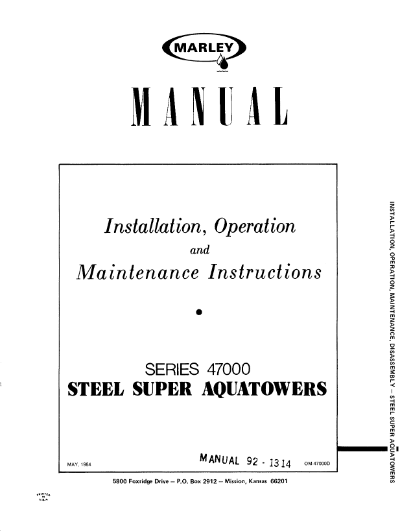 Marley Series 47000 Super Aquatower User Manual – Non Current