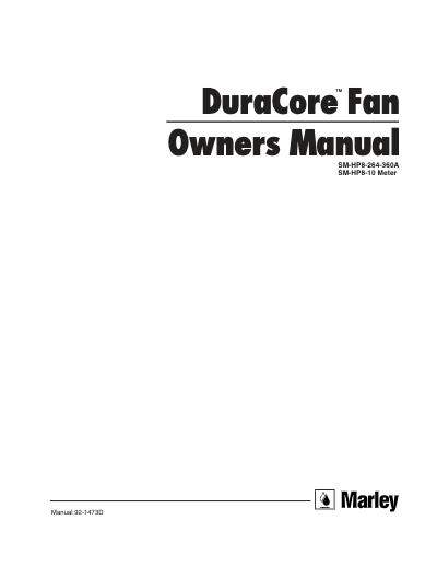 Duracore Fan User Manual - Non Current