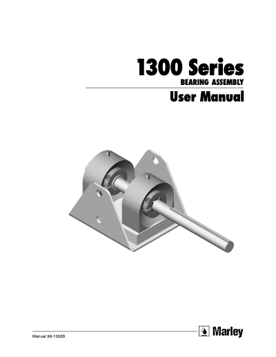 1300 Bearing Assembly User Manual - Non Current