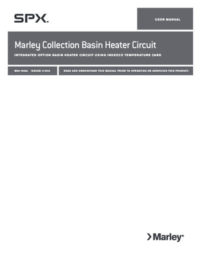 Marley Collection Basin Heater User Manual