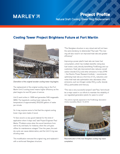 Natural Draft Cooling Tower Ring Replacement Profile