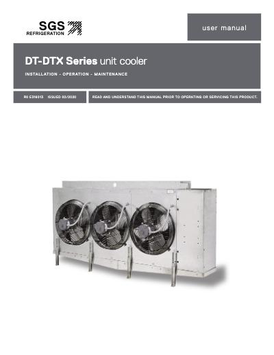 SGS DT-DTX Series Unit Cooler IOM User Manual