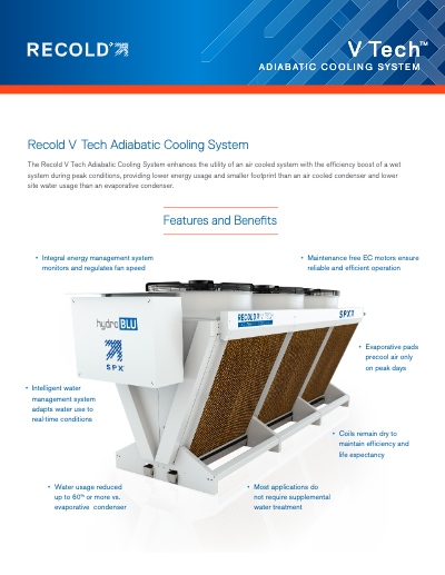Recold V Tech Adiabatic Cooling System