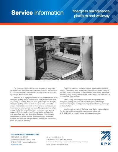 Service Information - Fiberglass Maintenance Platform and Walkway