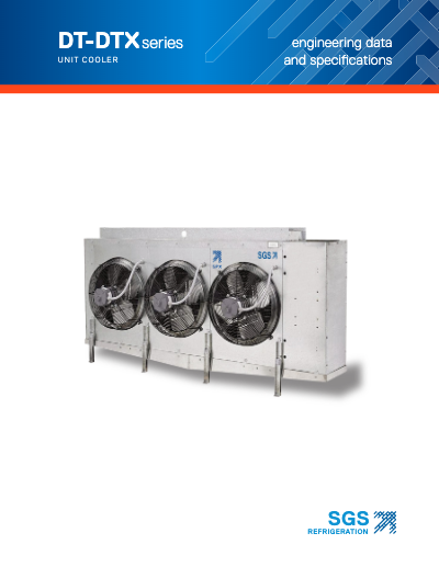 SGS DT-DTX Series Unit Cooler
