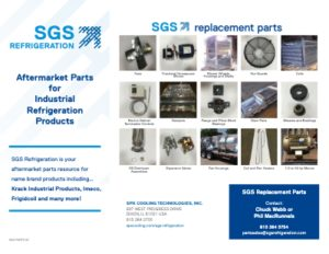 SGS Refrigeration Industrial Evaporator Parts