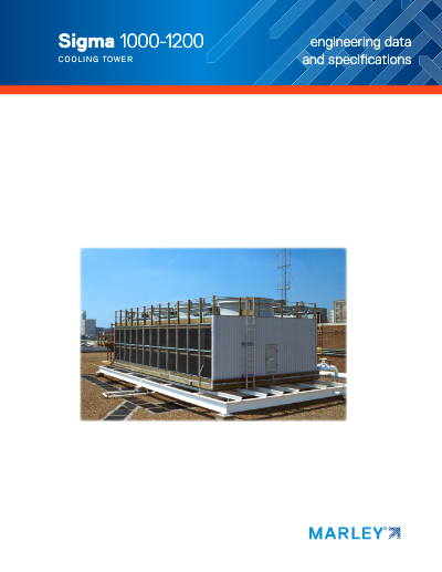 Marley Sigma Wood Cooling Tower Specifications and Engineering Data