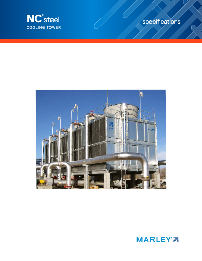 Marley NC Galvanized Steel Crossflow Cooling Tower Specifications