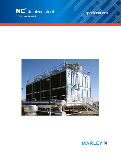 Marley NC Stainless Crossflow Cooling Tower Specifications