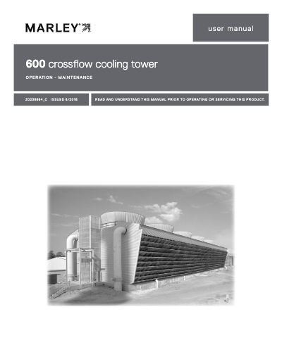 Class 600 Crossflow Cooling Tower Manual