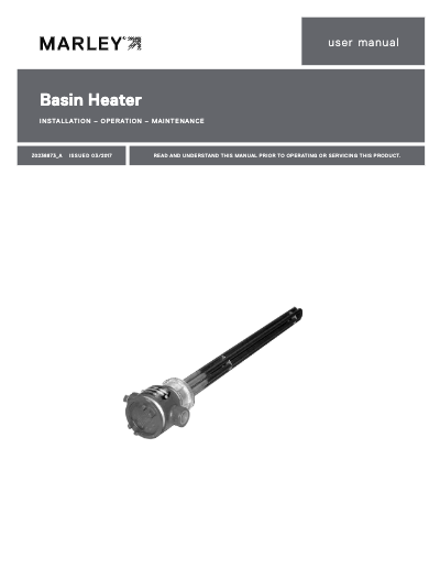 Marley Electric Basin Heater Manual
