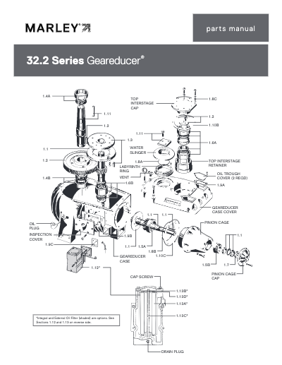 Marley Series 32.2 Geareducer Parts Manual