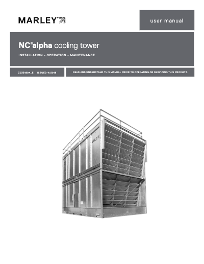 Marley NC Alpha Cooling Tower User Manual
