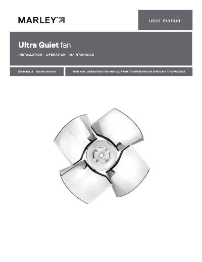 Marley Ultra Quiet Fan User Manual