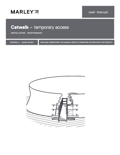 Mechanical Equipment Temporary Access Catwalk Manual