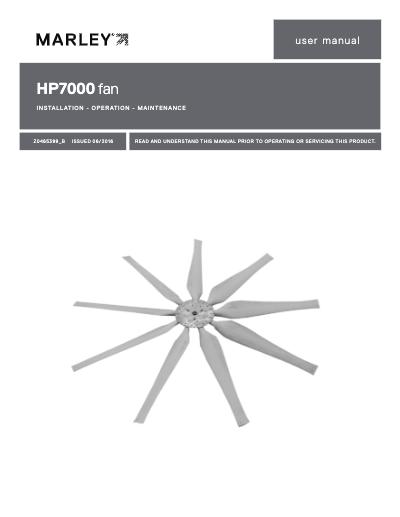 Marley HP7000 Fan User Manual