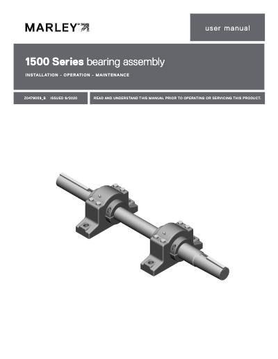 Marley 1500 Series Bearing Assembly User Manual