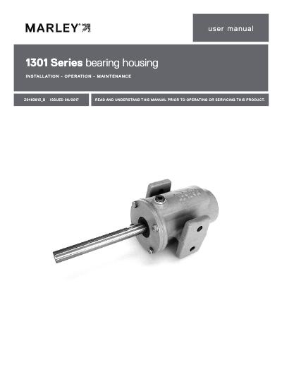Marley Bearing Housing Model 1301 IOM