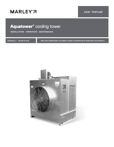 Marley Aquatower Cooling Tower User Manual