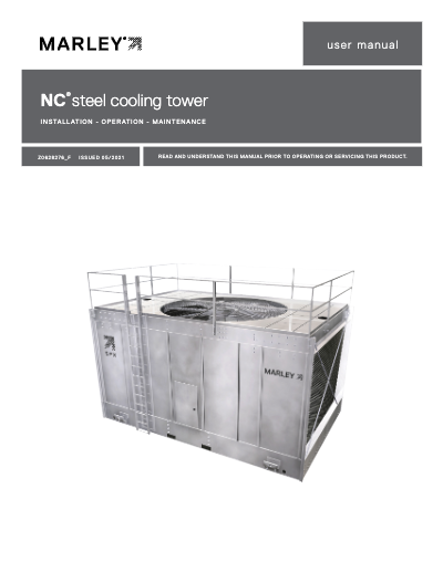 Marley NC Steel Cooling Tower User Manual