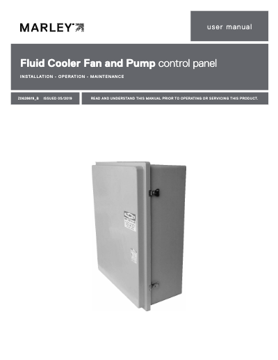 Marley CoolBoost Fan and Pump Control Panel User Manual