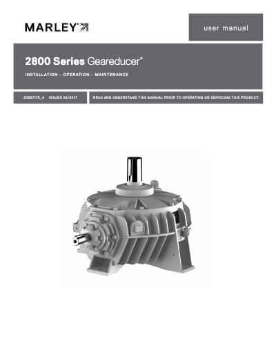 2800 Geareducer IOM User Manual