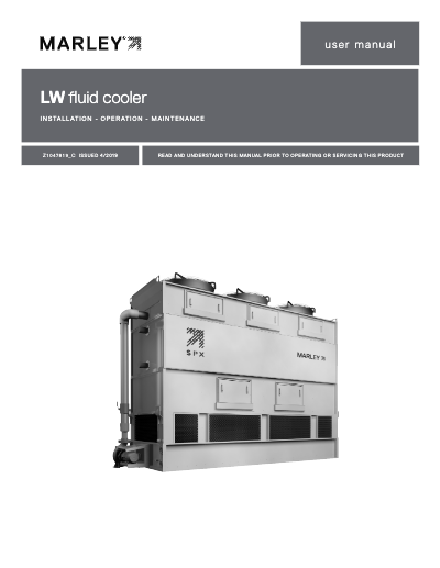LW Fluid Cooler IOM User Manual