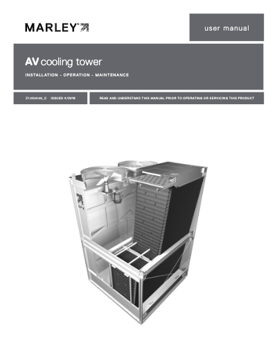 AV6800 Cooling Tower IOM User Manual