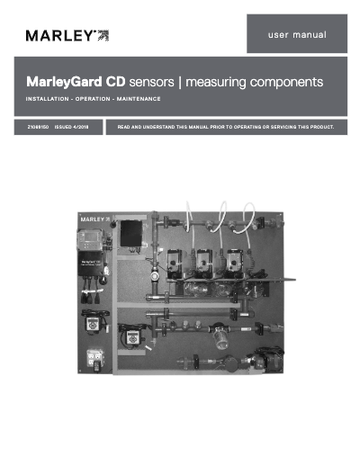 MarleyGard CD Sensor and Measuring Components IOM User Manual