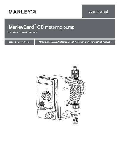 MarleyGard CD Chemical Metering Pump IOM User Manual