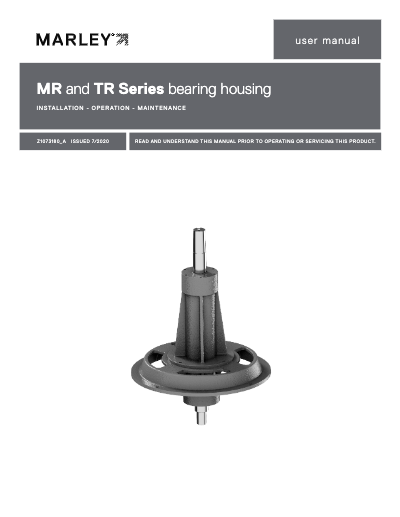 MR and TR Series Bearing Housing IOM user manual