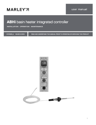 ABHi basin heater integrated controller user manual