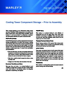 Cooling Tower Component Storage – Prior to Assembly